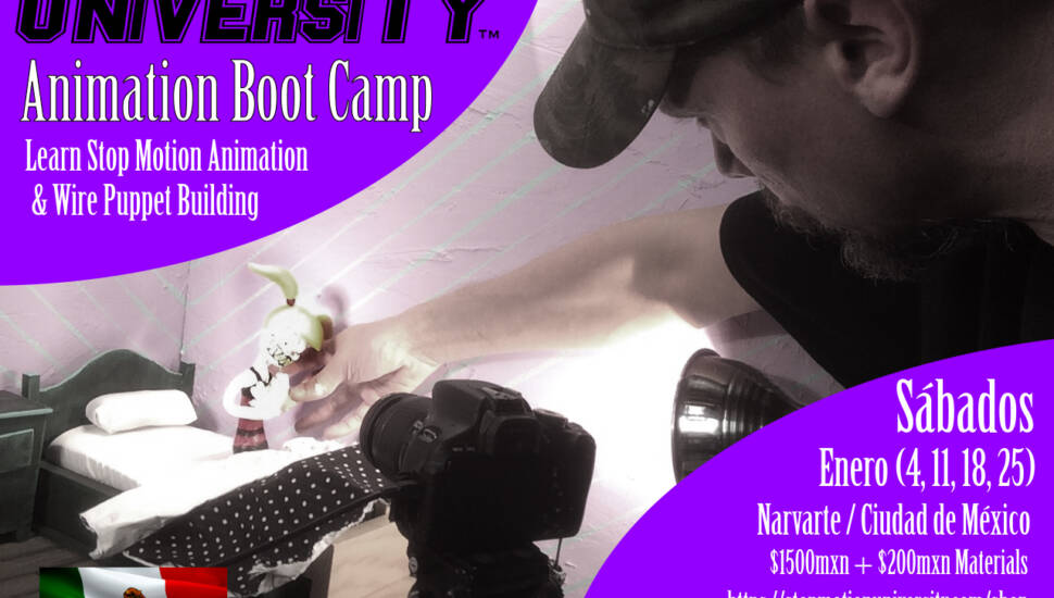 Animation Boot Camp!!! (Winter 2020) Online and Live in Mexico Sessions